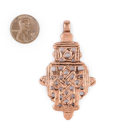 Copper Coptic Cross Pendant (63x36mm) - The Bead Chest