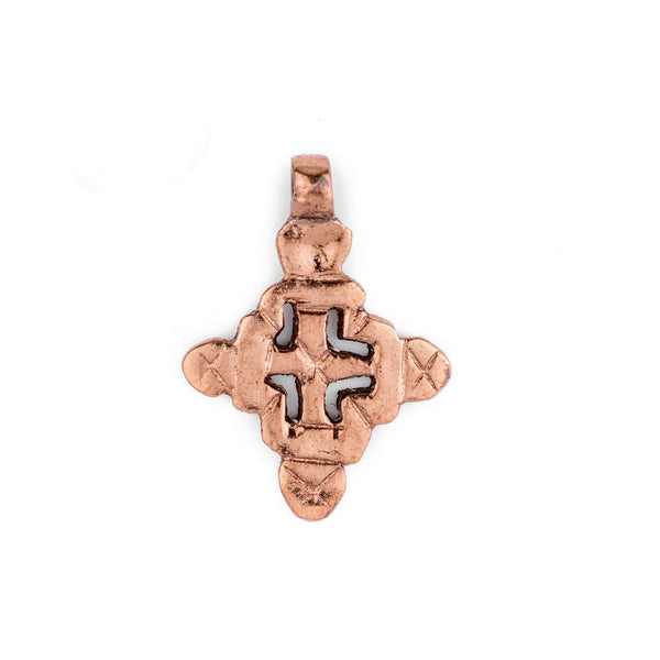 Copper Coptic Cross Pendant (38x27mm) - The Bead Chest