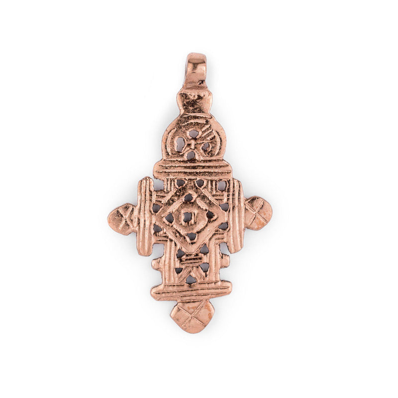 Copper Coptic Cross Pendant (68x40mm) - The Bead Chest