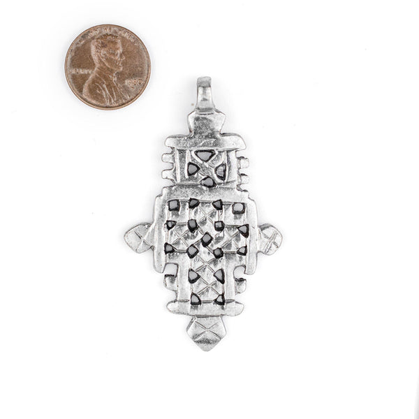 Silver Ethiopian Coptic Cross (60x35mm)