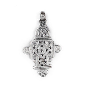 Silver Ethiopian Coptic Cross (68x40mm) - The Bead Chest