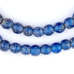 Translucent Blue Ancient Style Java Glass Beads (9mm)