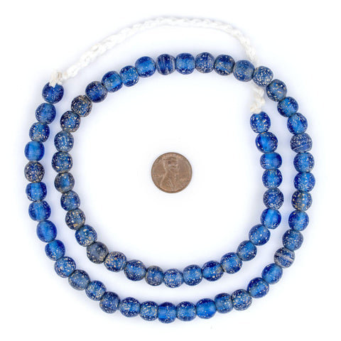 Image of Translucent Blue Ancient Style Java Glass Beads (9mm) - The Bead Chest