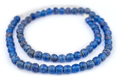 Translucent Blue Ancient Style Java Glass Beads (9mm) - The Bead Chest