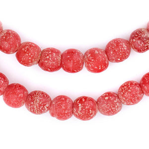 Red Ancient Style Java Glass Beads (9mm) - The Bead Chest