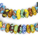 House Medley Fused Rondelle Recycled Glass Beads (15mm) - The Bead Chest