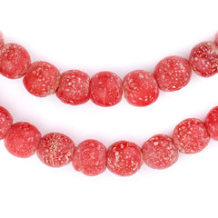 Red Ancient Style Java Glass Beads (9mm)