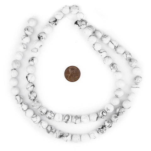 Image of White Round Howlite Beads (10mm) - The Bead Chest