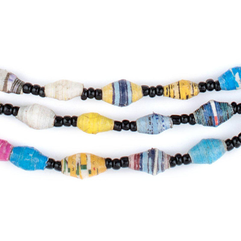 Small Multicolor Paper Beads (Long Strand) - The Bead Chest