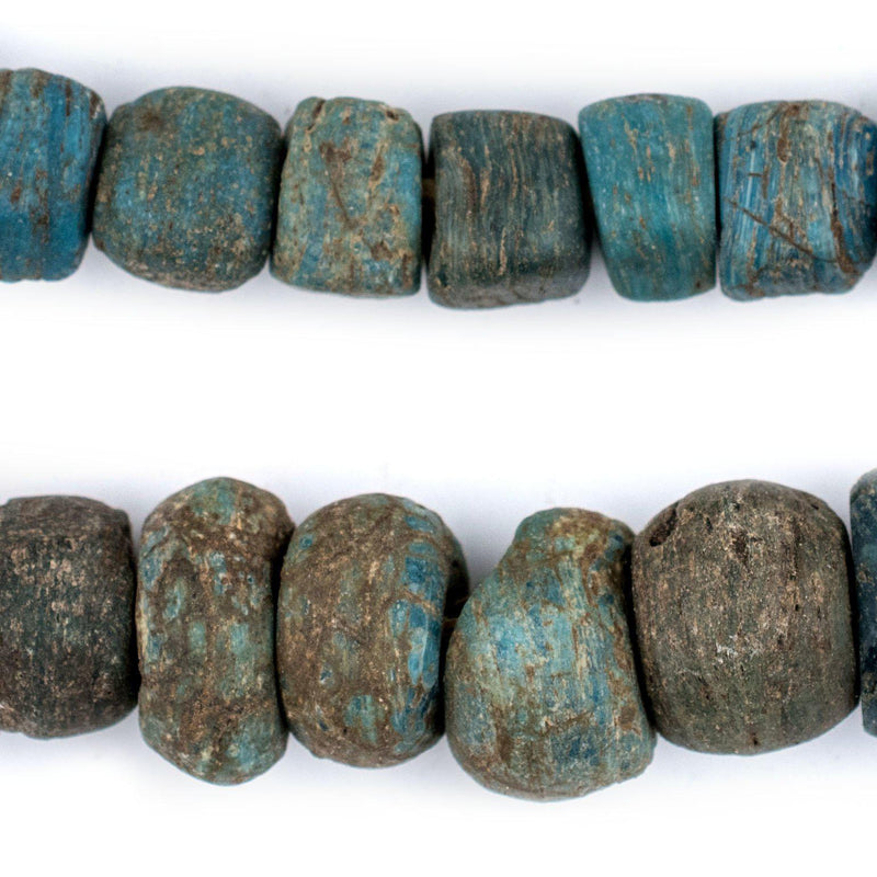 Antique Turquoise Blue Hebron Kano Beads - The Bead Chest