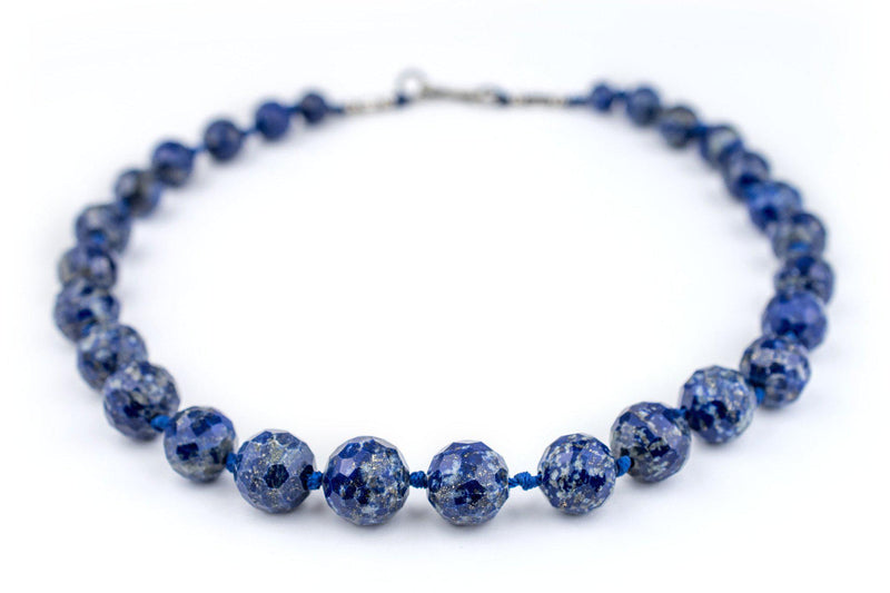 Multi-faceted Afghani Lapis Stone Beads - The Bead Chest