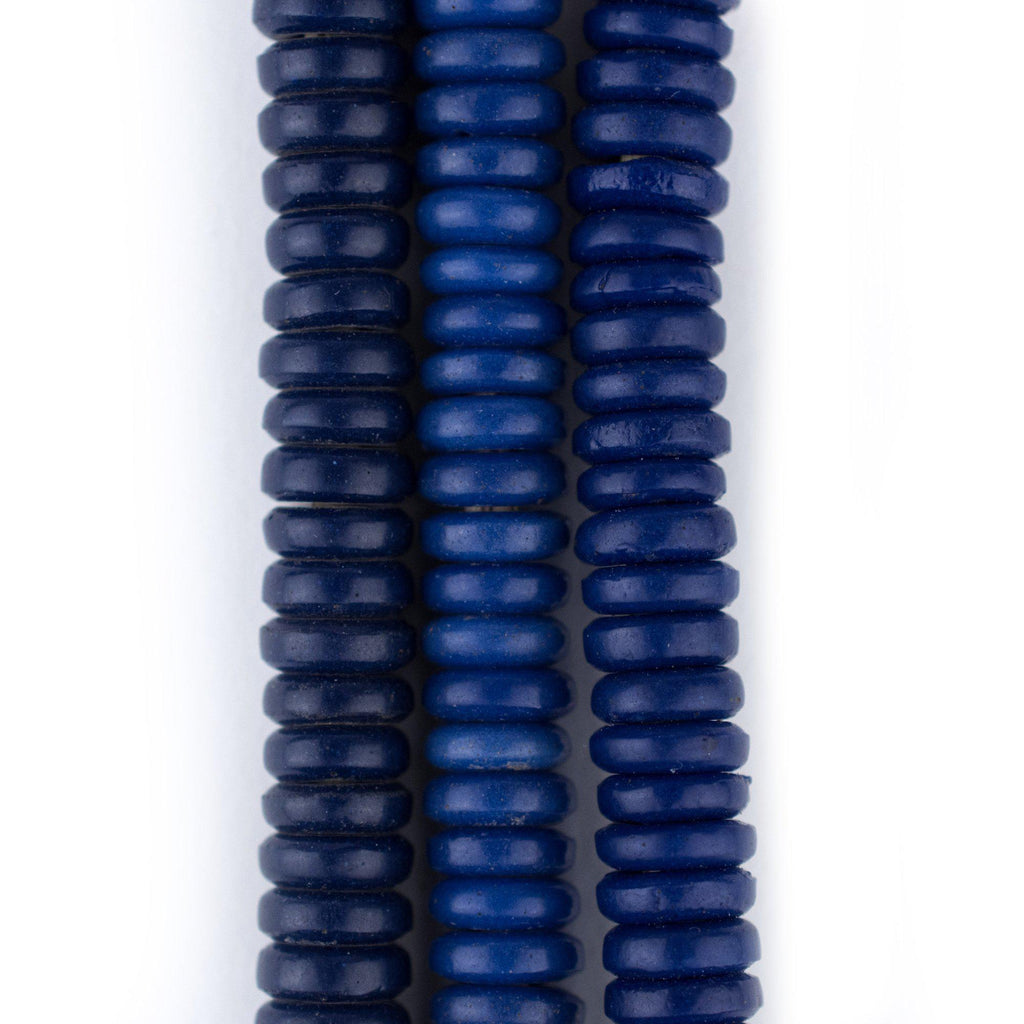 Blue Vintage Prosser Button Beads (7mm) - The Bead Chest