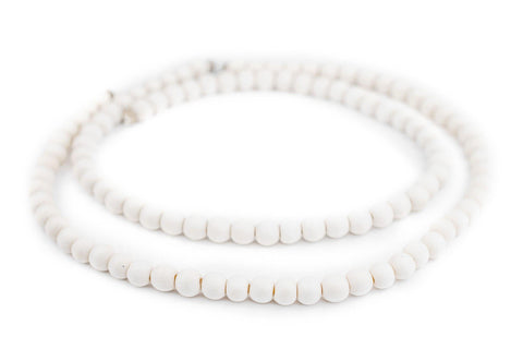 Image of White Natural Wood Beads (8mm) - The Bead Chest