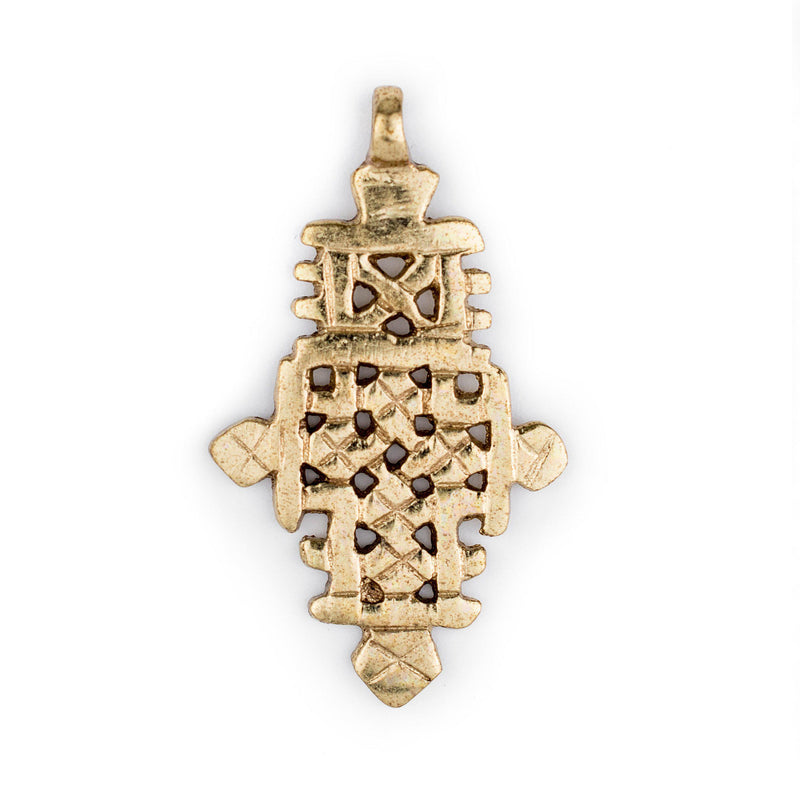 Brass Ethiopian Coptic Cross (60x35mm) - The Bead Chest