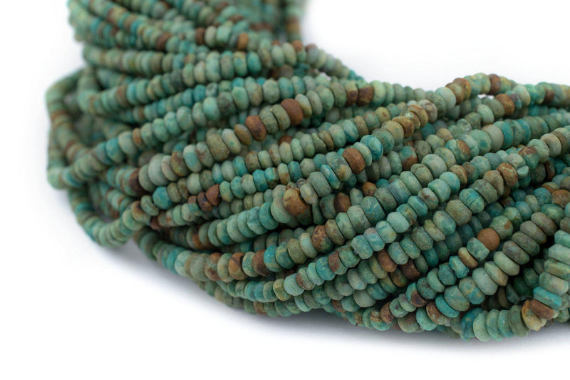 Afghan Turquoise Saucer Beads (3mm) - The Bead Chest