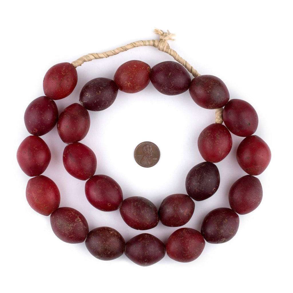 Antique Red Tomato Beads (30 x 25mm) - The Bead Chest
