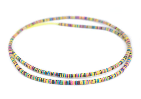 Special Medley Vinyl Phono Record Beads (4mm) - The Bead Chest