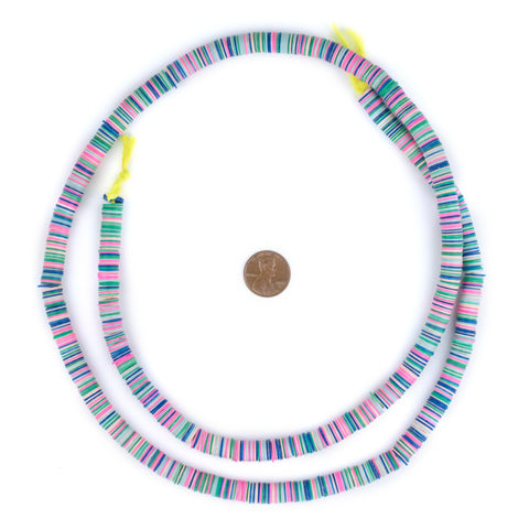 Pastel Medley Vinyl Phono Record Beads (8mm) - The Bead Chest