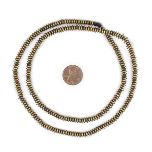 Brass Saucer Beads (5mm)