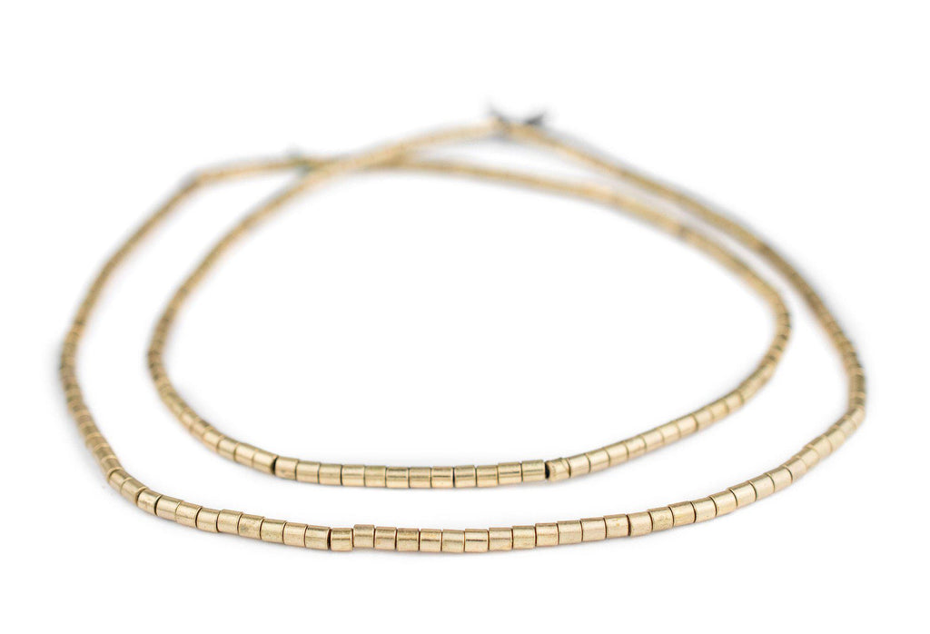 Brass Tube Beads (3mm) - The Bead Chest