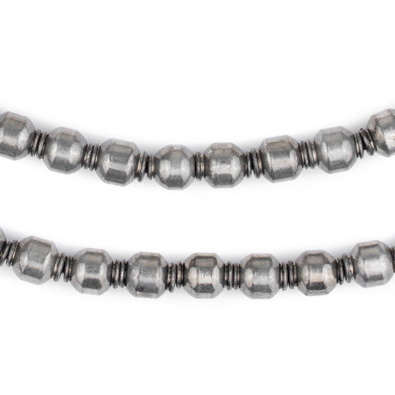 Miniature Silver Prayer Beads (9x7mm) - The Bead Chest