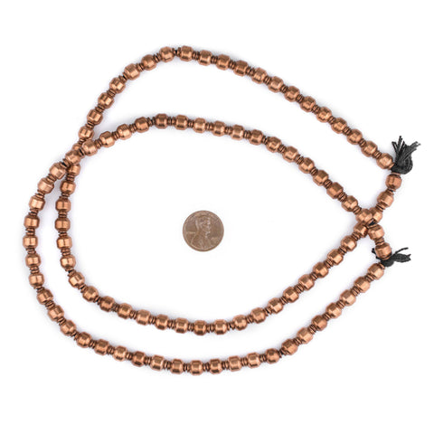Image of Miniature Copper Prayer Beads (9x7mm) - The Bead Chest