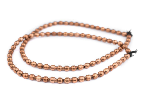 Miniature Copper Prayer Beads (9x7mm) - The Bead Chest