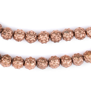 Copper Yoruba-Style Beads (9mm) - The Bead Chest