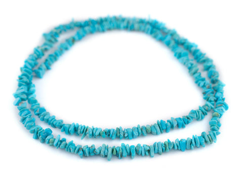 Blue Arizona Turquoise Chip Beads (5-7mm) - The Bead Chest