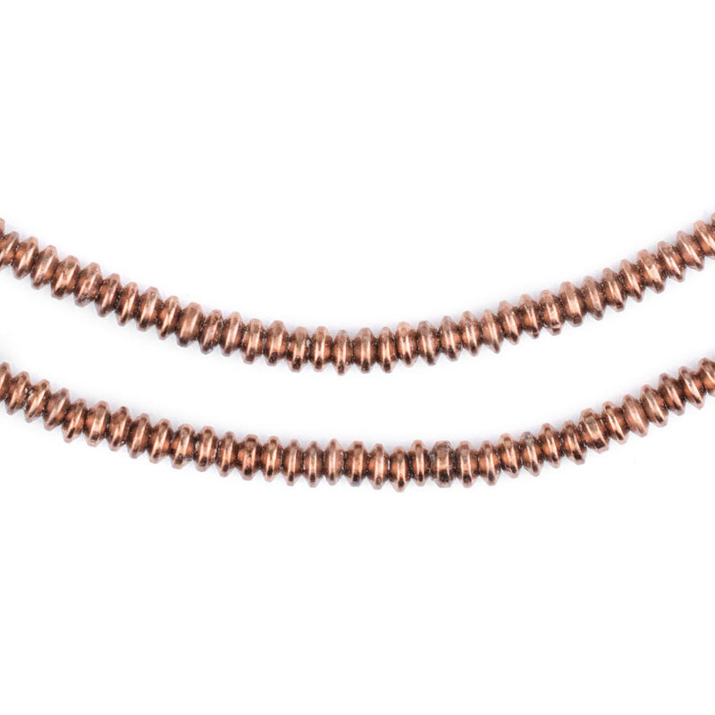 Copper Saucer Beads (4mm) - The Bead Chest