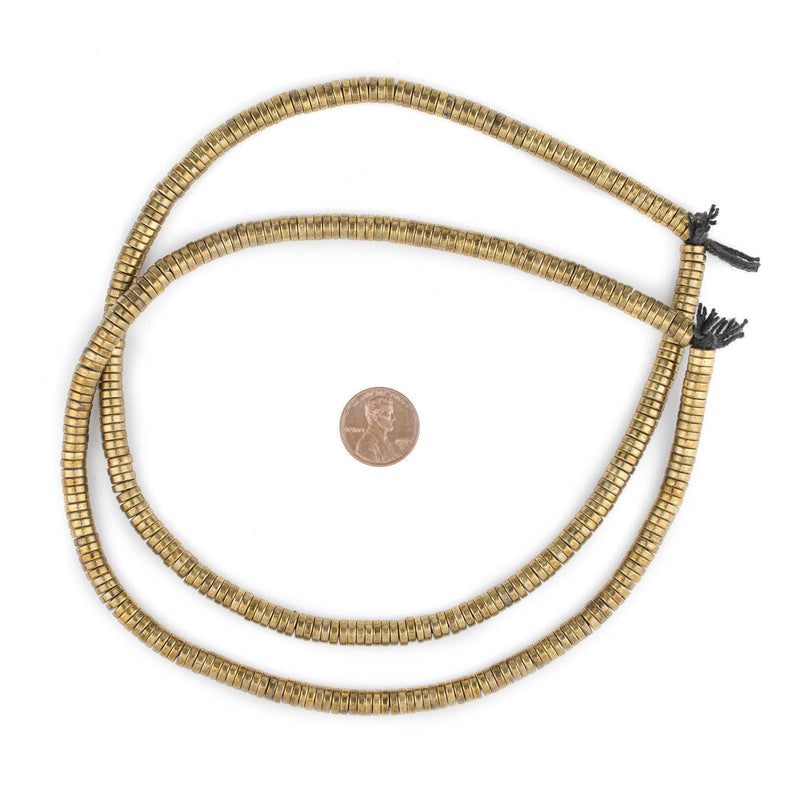 Brass Snake Disk Beads (6mm) - The Bead Chest