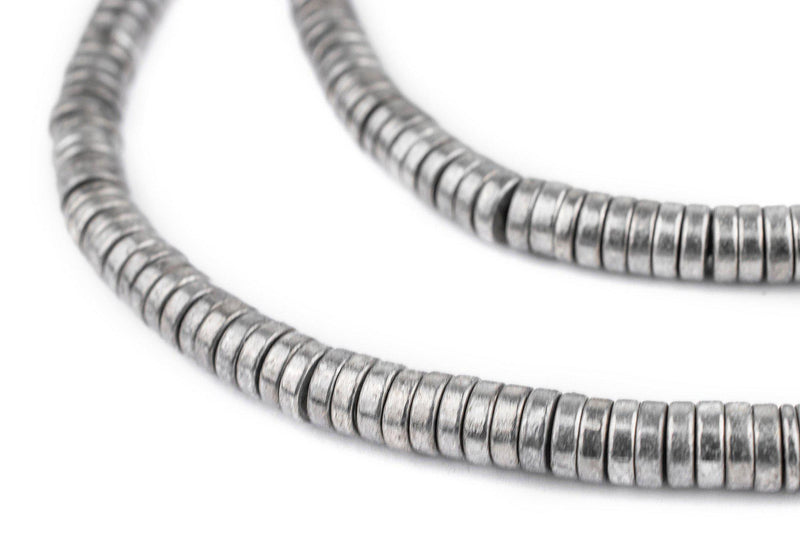 Silver Snake Disk Beads (6mm) - The Bead Chest
