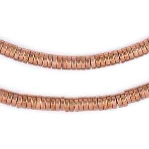 Copper Snake Disk Beads (6mm) - The Bead Chest