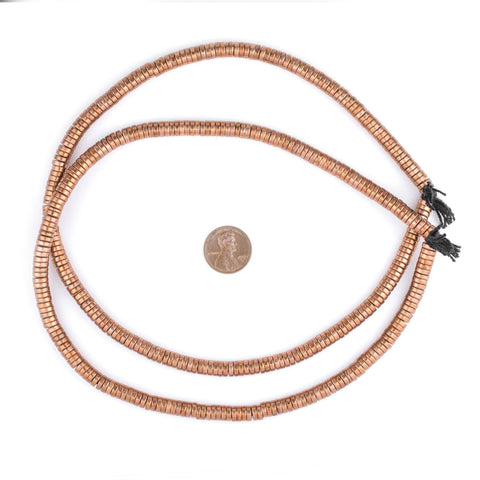Image of Copper Snake Disk Beads (6mm) - The Bead Chest
