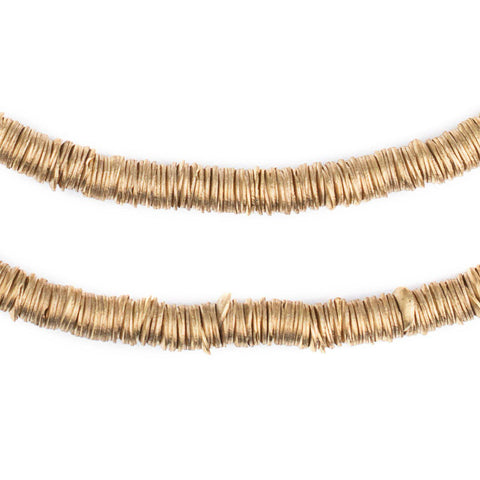 Gold Interlocking Crisp Beads (6mm) - The Bead Chest