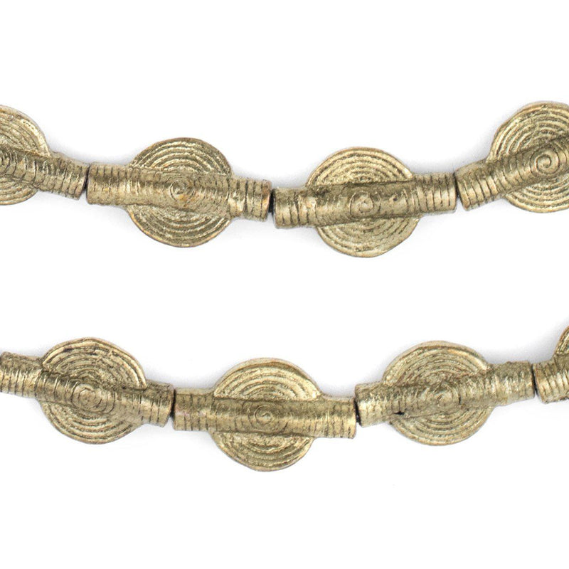 Smooth Sun Baule Brass Beads (20x12mm) - The Bead Chest