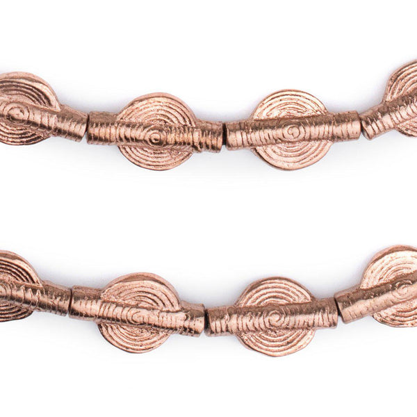 Copper Sun Baule Beads (20x12mm) - The Bead Chest