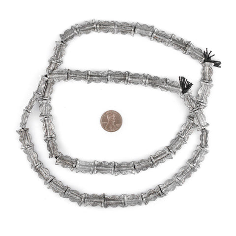 Silver Sun & Moon Baule Beads (16x11mm) - The Bead Chest