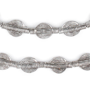 Silver Sun Baule Beads (20x12mm) - The Bead Chest