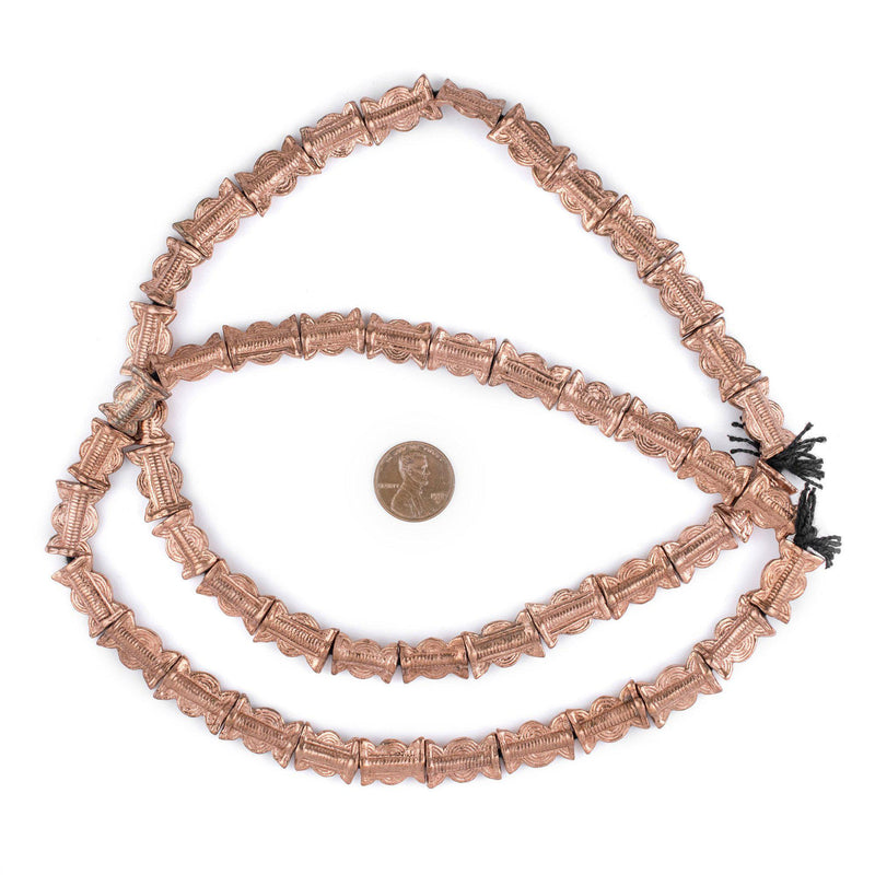 Copper Sun & Moon Baule Beads (16x11mm) - The Bead Chest