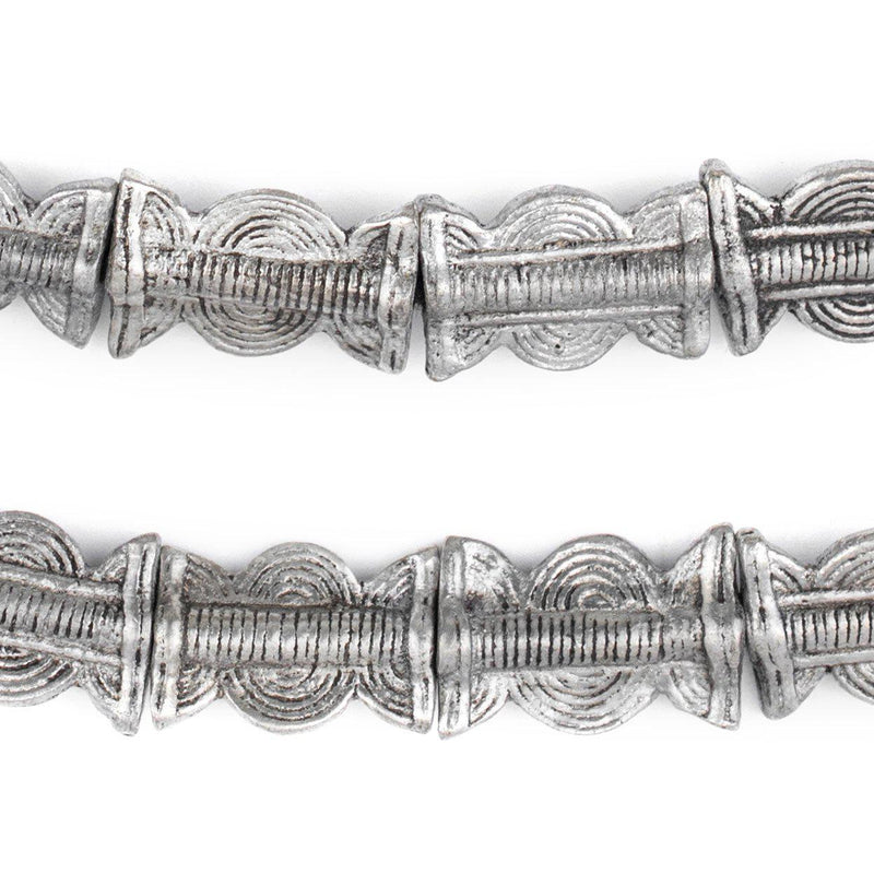 Silver Sun & Moon Baule Beads (22x14mm) - The Bead Chest