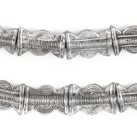 Image of Silver Sun & Moon Baule Beads (22x14mm) - The Bead Chest