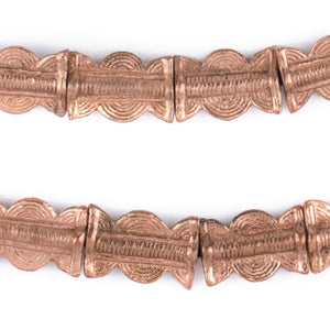 Copper Sun & Moon Baule Beads (22x14mm) - The Bead Chest
