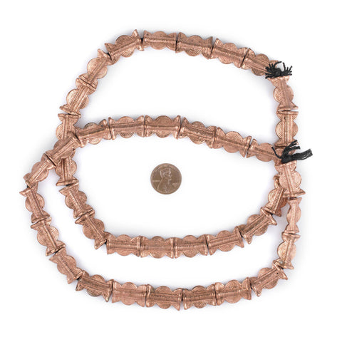 Image of Copper Sun & Moon Baule Beads (22x14mm) - The Bead Chest