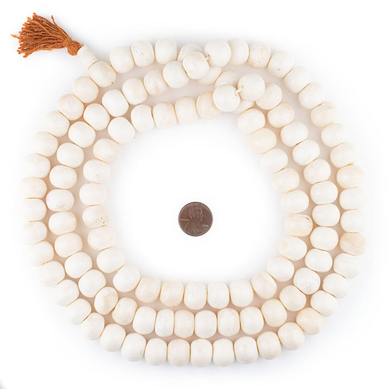 White Bone Mala Beads (16mm)