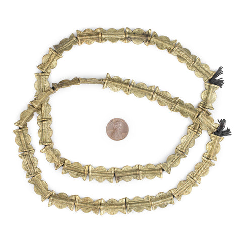 Brass Sun & Moon Baule Beads (22x14mm) - The Bead Chest