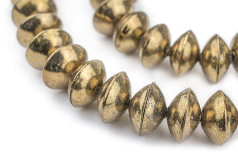Ethiopian Brass Saucer Beads (14mm) - The Bead Chest