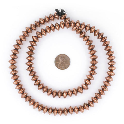 Ethiopian Copper Saucer Beads (10mm) - The Bead Chest