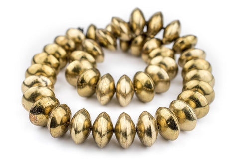 Ethiopian Brass Saucer Beads (24mm) - The Bead Chest