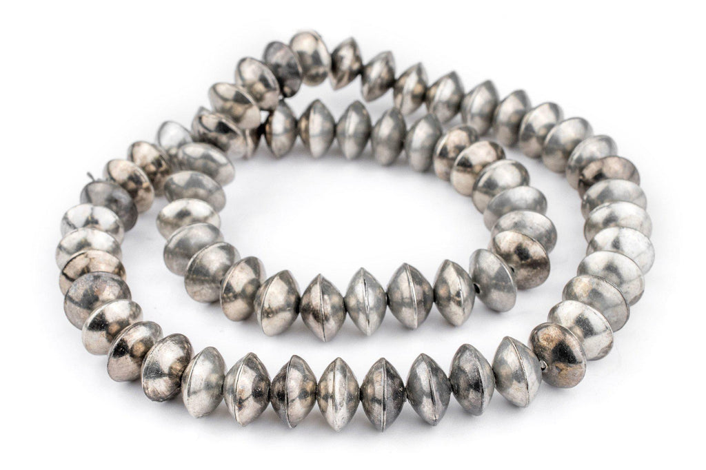 Ethiopian Silver Saucer Beads (14mm) - The Bead Chest